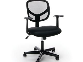 Essentials by OFM Swivel Black Mesh Task Chair with Arms  Retail 92 49