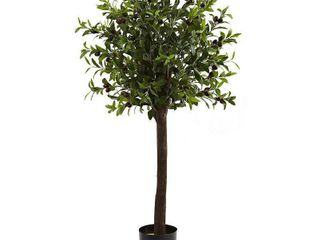 Nearly Natural 4 foot Olive Topiary Silk Tree Decorative Plant Retail 91 49