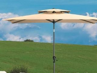 Crestlive Products 9 x 5 FT Double Top Patio Outdoor Market Umbrella Retail 103 49