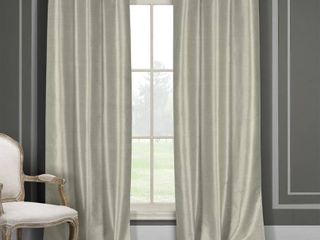 Duck River Faux Silk Blackout Window Curtain Panel Pair  Set of 2