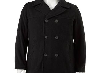 EXcelled Men s Double Breasted Tall Peacoat