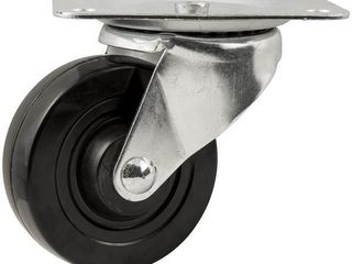 lot of 2 Waxman 4  Heavy Duty Swivel Rubber Caster