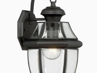 Portfolio Brayden 14 13  H Matte Black e 26 Base Outdoor Wall light