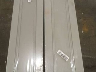 lot of 2  Grey Pantry Cabinets