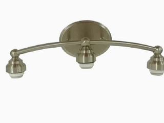 Style Selections Style Selections 3 light Nickel Transitional Vanity light Bar
