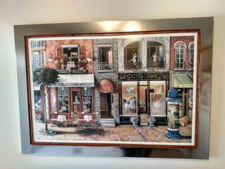 French Storefronts Framed Art Print