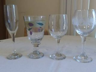 lot of Various Kinds of Wine Glasses