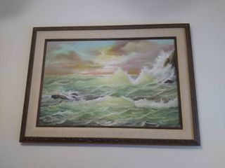 Vintage Hand Painted Painting