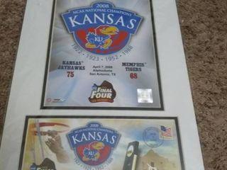 2008 Kansas Jayhawks Commemorative NCAA Champions Poster