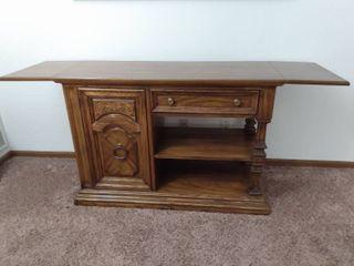 Vintage Oak Buffet or Serving Table