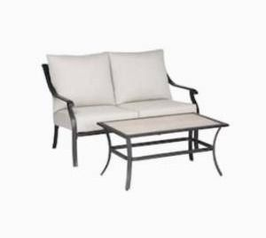 Style selections Elliott creek loveseat and coffee table