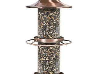 Perky Pet Copper Panorama Hanging Bird Feeder   4 5 lb  Capacity  Brown