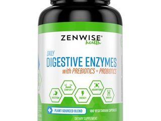 Zenwise Health Digestive Enzymes with Prebiotics   Probiotics  180 Ct