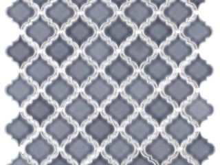 SomerTile 12 375x12 5 inch Antaeus Imperial Grey Porcelain Mosaic Floor and Wall Tile  10 Case  10 7 sqft  Retail 160 28