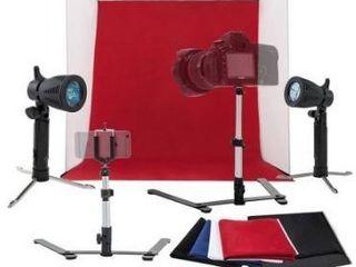 24 60cm Folding Mini Studio Shooting Tent Photography lighting Kit w Backdrop