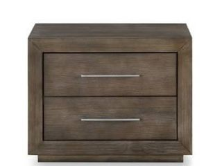 Carbon loft Carnegie Two drawer Nightstand with USB in Dark Pine Retail 391 49