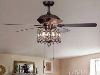 copper grove dejes 52 in rustic bronze ceiling fan