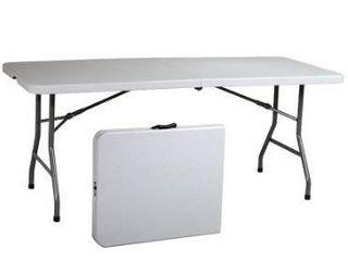 Indoor outdoor 6 ft plastic portable table