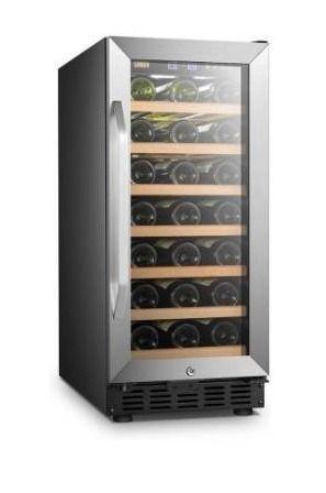 lanbo 15 inch 33 bottle Wine Fridge Cooler with Built in Compressor Retail 495 99