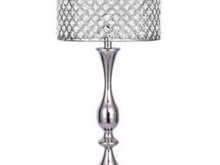 Silver Orchid 27 5 inch Table lamp w  Crystal Bling Shade Retail 88 49  shade part little bent