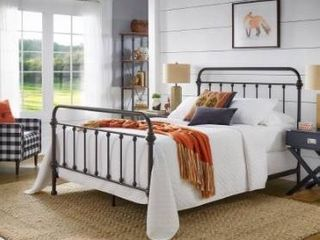 Giselle Antique Graceful Dark Bronze Victorian Iron Bed by iNSPIRE Q Classic Retail 354 10
