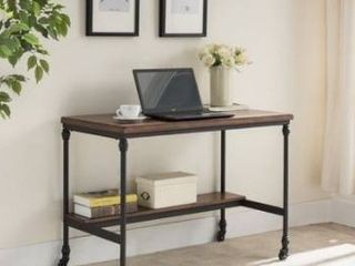 Carbon loft Shasta Covington Brown Wood and Metal Desk with Charging Station Retail 263 99