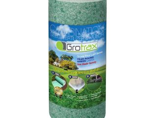 As Seen On TV Grotrax Quick Fix Roll Year Round Green Grass Seed Mixture Mat Roll for lawn Spots  High Traffic Areas and lawn Repairs Winter Resistance and Drought Tolerant  50 SQFT