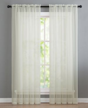 VCNY Home Infinity Sheer Rod Pocket Window Curtains  Multiple Sizes Available