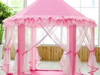 Princess Castle Play Tent Hexagon Indoor Fairy Castle Tent w lED light