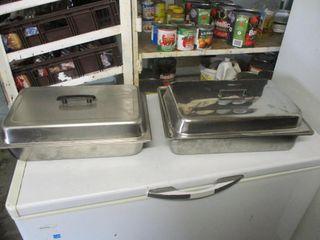 2 ROASTING PANS