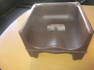 BROWN BOOSTER SEAT