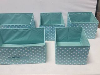 Set Of Cubby Compartment Storage Bins  18in X 11in And 12in X 11in