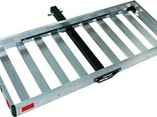 Tricam ACC 1F Hitch Mounted Aluminum Cargo Carrier  500 Pound Capacity  50 Inch by 20 Inch Platform