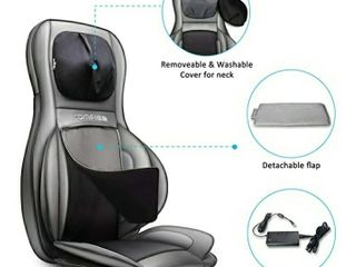 Comfier Shiatsu Neck   Back Massager a 2D 3D Kneading Full Back Massager with Heat   Adjustable Air Compress  Massage Chair Pad for Shoulder Neck and Back Waist Hips Full Body Pain Relief