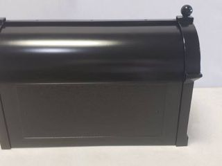 Metal Black Smooth And Hammered Mailbox With Gold Flag  20in X 10in X 14in
