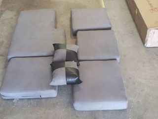 Spare Couch Cushions With Single Sectional Piece And 4 Cushion Pieces