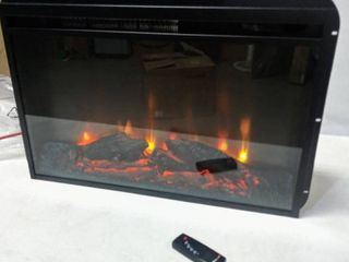 Altraflame Model   FA23V60l Electric Fireplace Heater Insert Flat Glass   26  W x 18  T x 5 D  Insert Only  Tested   Working