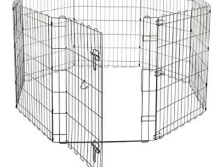 Amazonbasics 9004 24b Foldable Metal Pet Exercise And Playpen 48inches