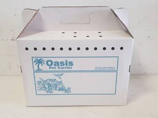 Oasis Pet Carrying Box  Pack Of 24  17in x 9in x 12in Carrying Space