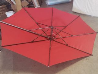 11ft Patio Cantilever Umbrella  Base Not Included  Missing Crank lever