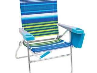RIO Beach 4 Position 17 inch Tall Beach Chair   Stripe