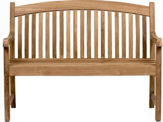 Amazonia Newcastle Patio Bench   Made of Real Teak   Ideal for Outdoors and Indoors  48lx26Wx35H  light Brown