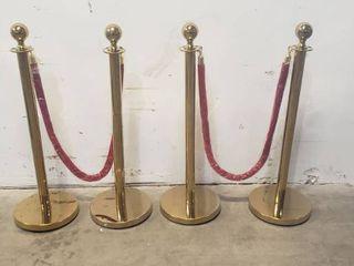Velvet Rope Set With Bonus Dented Set 3ft Tall