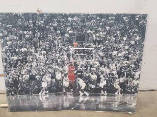 38  X 29  Michael Jordan Canvas Print