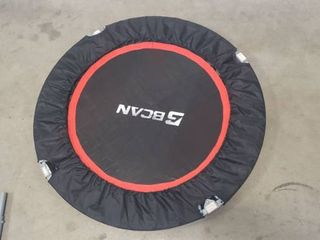 BCAN 40 5 Inch Small Workout Trampoline  Appears To Be Missing Four legs