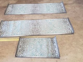 Set Of 3 Area Rugs  Small length  34  large Pair lengths  72  Small Width  20  large Pair Widths  24