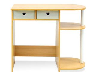 Furinno Go Green Home laptop Notebook Computer Desk Table  Beech Ivory White  11193BE WH IV