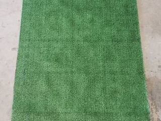 Ottomanson Evergreen Artificial Turf Area Rug  3 X7 3  Green