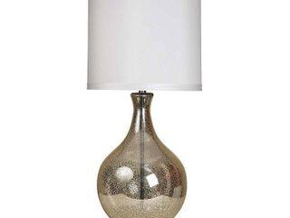 StyleCraft Northbay Mercury Glass Table lamp   White Hardback Fabric Shade  Retail 186 99