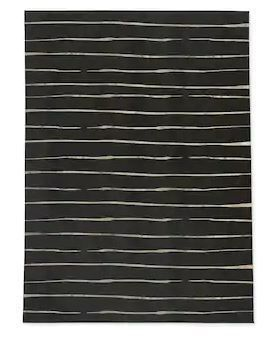 WAVY ABYSS BlACK SMAll Area Rug By Kavka Designs 2 5ftx 4 5ftRetail 109 99